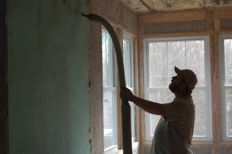 Professional exterior wall insulation