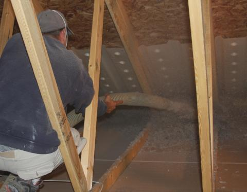 Professional attic insulation
