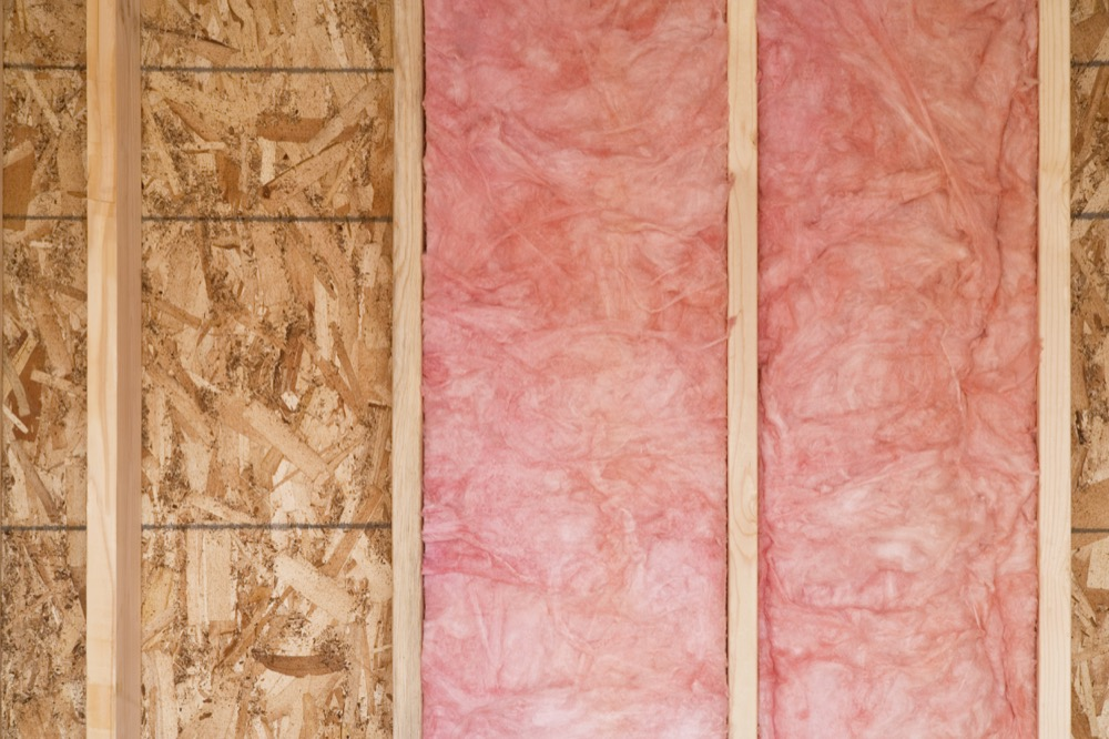 fiberglass wall insulation installed by valley insulation