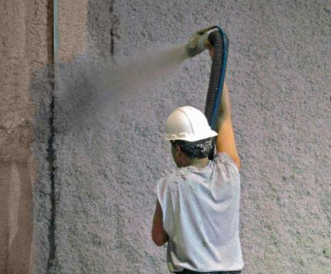 Valley Insulation installing cellulose insulation